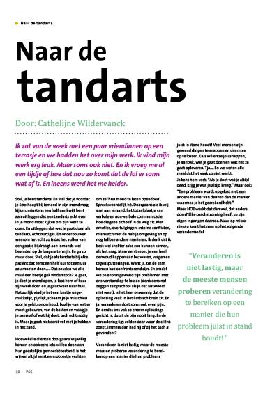 Naar de Tandarts – Artikel