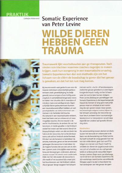 Wilde dieren hebben geen trauma – Artikel