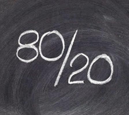 1. Waarom ik kriebels krijg van de 80/20 regel en wat dat met het brein te maken heeft