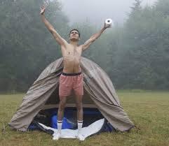 Camping-gevoel